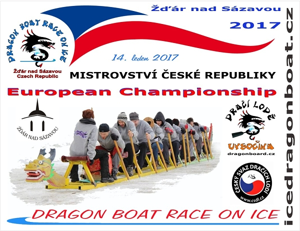 DRAČÍ LODĚ 2017 - Dragon boat Race on Ice