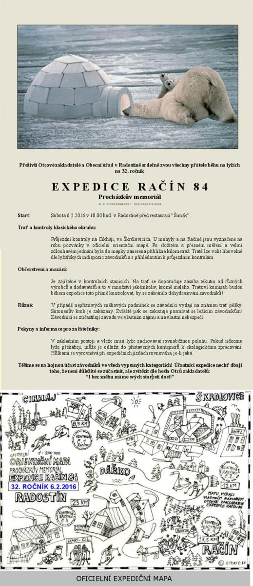 EXPEDICE RAČÍN 84 - Procházkův memoriál